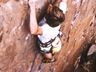 Andy Wesson rock climbing at Kirkwood Rock 1992, photo thanks Andy Wesson