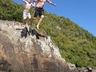 Rock jumping at Windmill Hole in East London