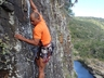 Garvin Jacobs rock climbing at Windmill Hole
