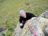 Stephan enjoying the climbing on Hogsback