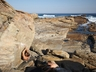 Willem Oosthuisen on a boulder problem at Cape St Francis