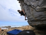 Seaside bouldering at St Francois
