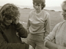 Hiking up Cockscomb, right to left Tanya Klaasen, Jenny Burkinshaw & an unknown person, photo thanks to Andrew Forsyth ~ 1978.