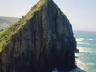 Sea cliff rock climbing potential at Hole in The Wall, Transkei.