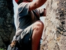 Rock climbing at Hole in The Wall Transkei ~ 2002