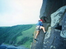 Derek Marshall, early days climbing at Morgan Bay ~ 1997