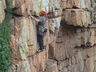 Derek Marshall opening a new line on the Eagle Eyrie Wall