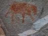 Bushmen painting of an elephant at Momentum Gorge