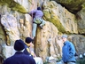 Climbing on the Eagles Eyrie Wall, Momentum ~ 2001 Photo thanks to Martin Rehm collection (Fritzel)