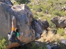 Martin Renz on Straight Up (7A) in the Welcome Boulders sector ~ 2009