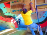 Garvin Jacobs indoor training for climbing
