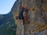 Derek Marshall open a route at The Island, Damasqua Ridge