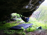 Bouldering at Prophets Cave, projects, Derek Marshall ~ 2008