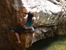 Nikita...not so deep water bouldering
