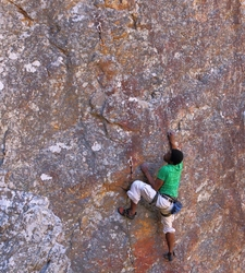 Nkosinati Namma sending at the Big Daddy Wall, Pinnacle Gorge.