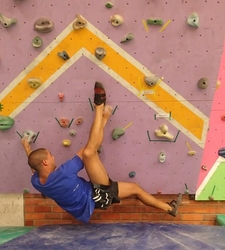 Che Freese at Eastern Cape Bouldering League - GHT 2014